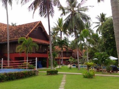 Luxury wooden apartments & cottages in lush gardens