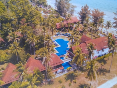 Aerial of the beautiful Coral Bangsaphan Resort