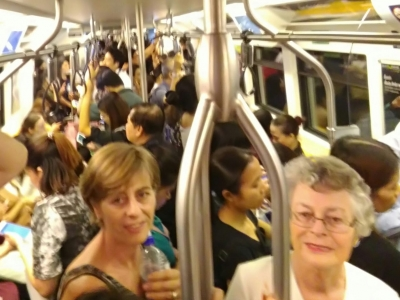 Janneke introduces her mother to the BTS Skytrain & MRT underground rail
