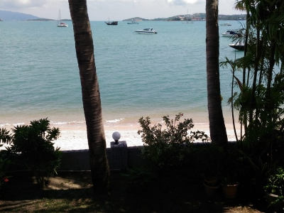 Our view from our beach house at Baan Anuntanarak