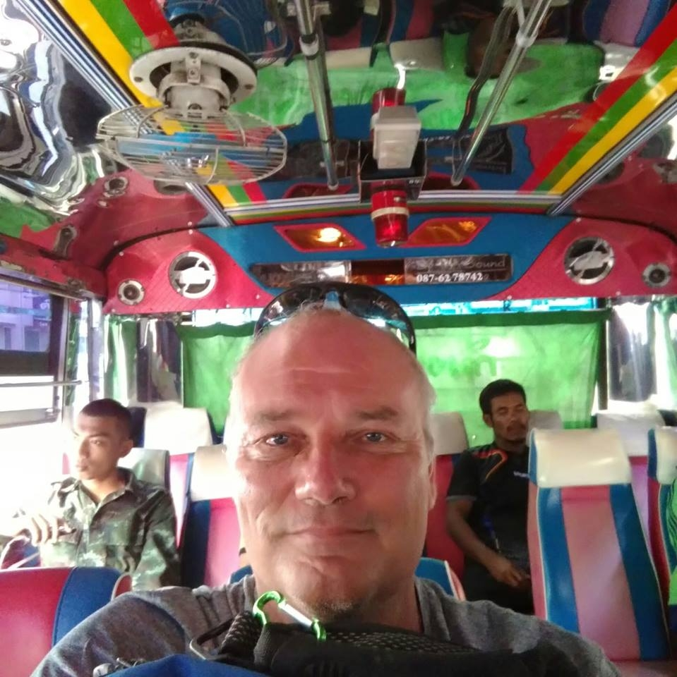 A colourful and fun way to travel in Thailand is always the public transport system
