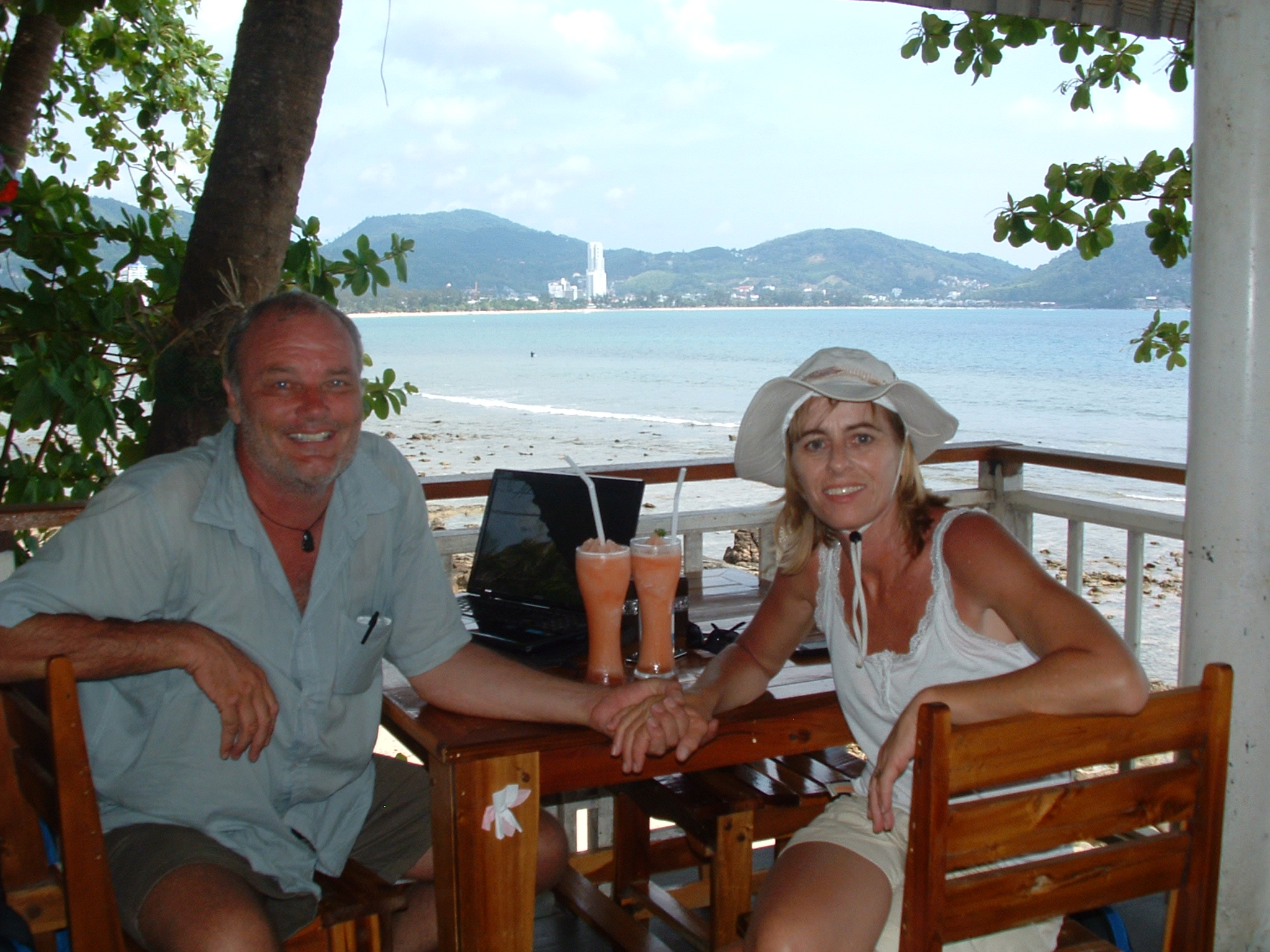 Menno and Janneke in Patong