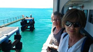 Don Sak Pier and the ferry to Koh Samui with Janneke and her mother