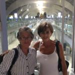 Janneke and her mother at Suvarnabhumi International Bangkok